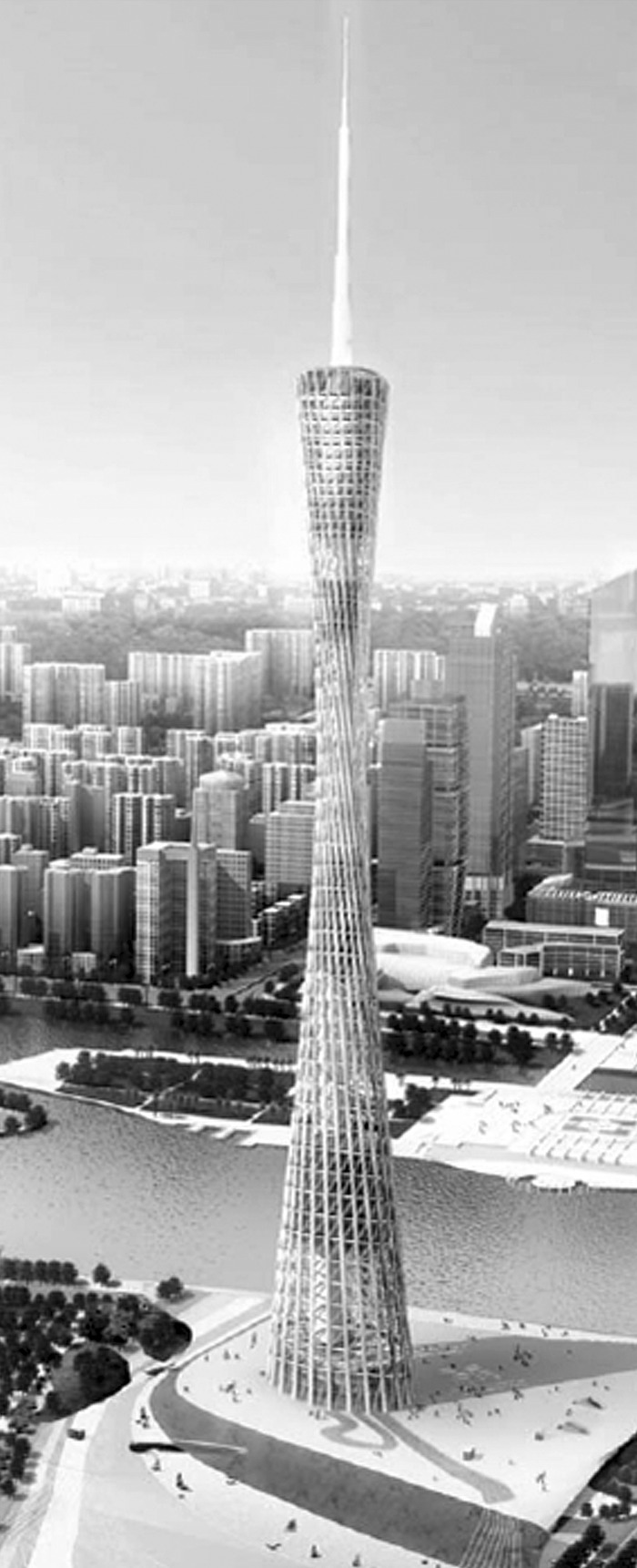 Guangzhou New Television Tower. (With permission from John Wiley & Sons Ltd.)