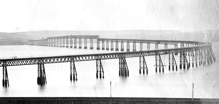 Tay Rail Bridge after construction.