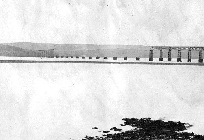 Tay Rail Bridge after collapse.
